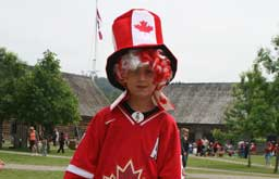 Canada Day red white