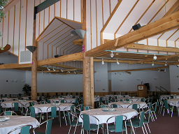 Tables in the Banquet Hall inside McGillivray's landing