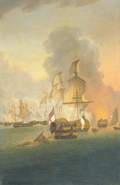 Painting of Battle of Trafalger