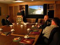 Meeting presentation in the council room