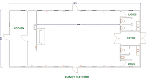 The floor plan diagram of the Canot du Nord