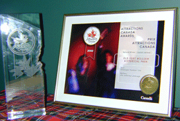 Photo of FWHP award trophy and certificate