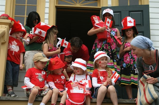 Children dressed up for Canada Day