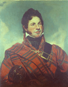 Portrait of McGillivray in clan tartan